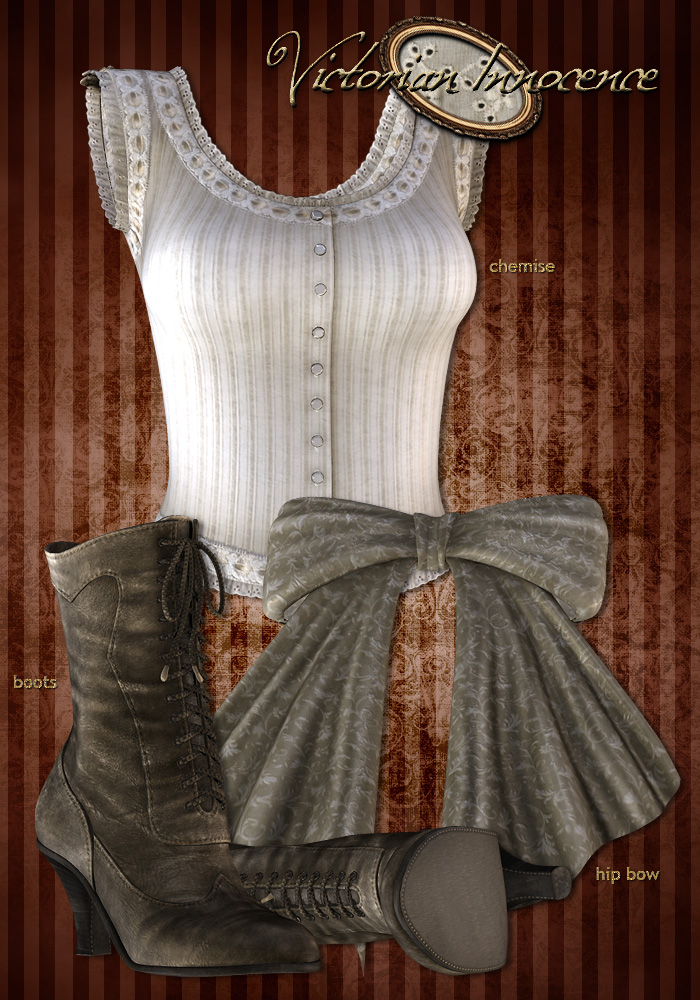 Chemise, Bow and Boots